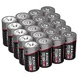 VORRATSPACK: Der Pack beinhaltet 20 Alkaline Batterien Typ Baby C mit 1.5V - besonders langlebig und auslaufsicher HIGH PERFORMANCE: ANSMANN Marken-Batterie für alle Geräte des täglichen Gebrauchs mit durchschnittlichem Verbrauch / Geeignet für einen...