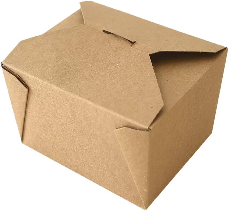 Take Out Boxes 30oz Max 69% OFF Bargain Microwaveable Kraft Cont Brown Food