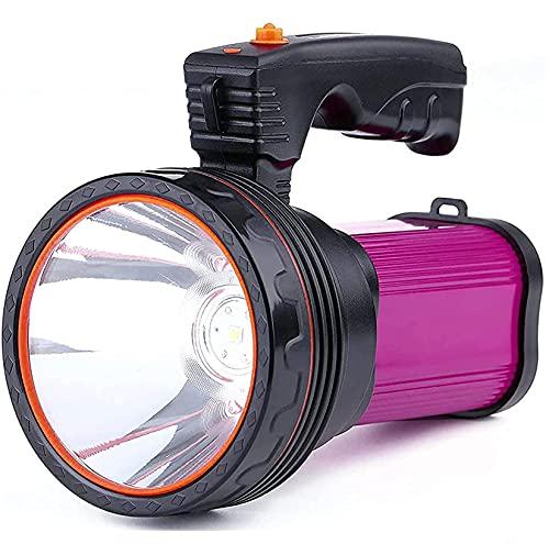 High Power Rechargeable LED Flashlight 6600mAh 7000 Lumen Super Bright...