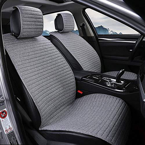 Old Street Autostoelbekleding, compatibel met Mercedes Benz A Class auto stoelhoezen vier seizoenen universeel linnen half pakket zitkussen voor 5 zitplaatsen autostoel beschermhoes autointerieur