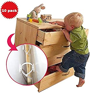 Furniture Straps Baby Proofing Anti-tip Wall Anchor 10 Kits Adjustable Child Safety Bookshelf Bookcases Table Dresser Earthquake