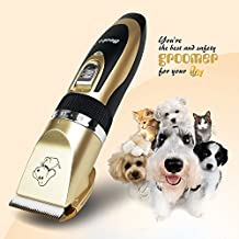 Becko Cordless Low Noise Pet Hair Clippers, for Dog Cat Animals Grooming Hair Trimming