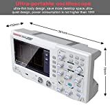 Osciloscopio Digital Hanmatek DOS1102 con 2 Canales y Pantalla de 7 pulgadas, Pantalla TFT-LCD, Kit de Osciloscopio Profesional Portátil con Ancho de Banda de 110 mhz 1GS / s Frecuencia de Muestreo