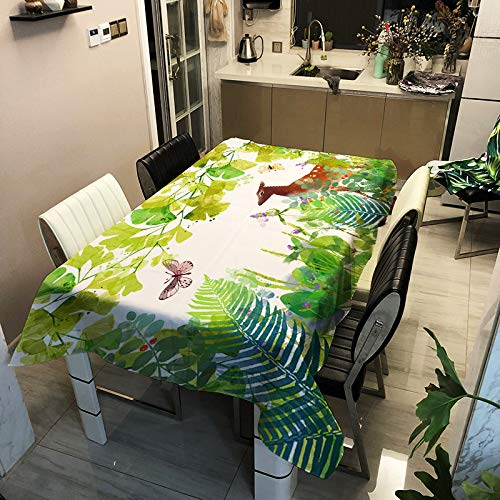 Modern And Simple Animal Print Tablecloth Polyester Waterproof, Oil-Proof And Dirt-Resistant Table Mat Can Be Used For Multi-Table Tablecloth