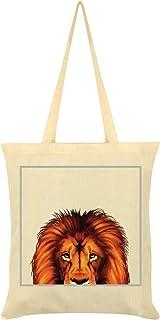 Inquisitive Creatures Lion Tote Bag Cream 38 x 42cm