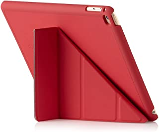 Pipetto Origami iPad Case Air 2 with 5 in 1 Stand & auto Sleep/Wake Function Red