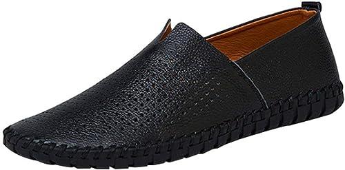 Willsego Chaussures en Toile pour Hommes Chaussures Tout-Aller Chaussures Lofo Chaussures Confortables Lazy Confortables (Couleuré   10, Taille   44EU)
