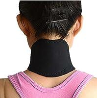 VANX 首 頸椎サポーター 磁気パッド 矯正 トルマリン磁気ベルト 神経痛 (ブラック)