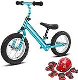 MGE Draisienne, Enfant en Bas âge Voiture équilibre for Enfants Stepping 2-3-6 Ans bébé sans pédale yo-yo Jouet vélo Coulissant Coulissant (Color : Blue)