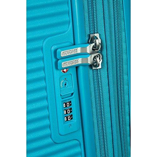 [アメリカンツーリスター]スーツケースキャリーケースサウンドボックススピナー55機内持ち込み可保証付35L55cm2.6kgサマーブルー