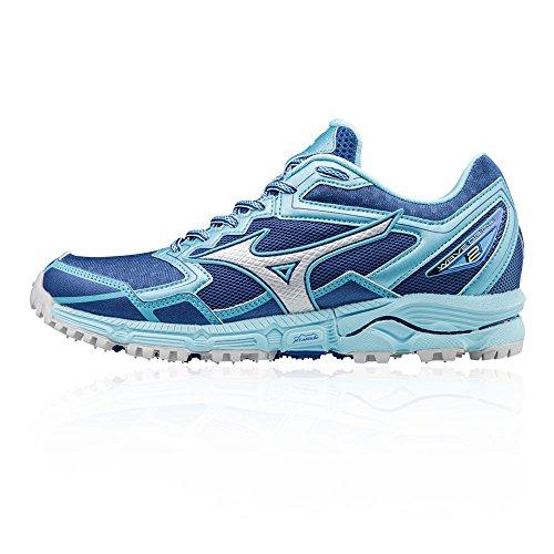 Mizuno - Zapatillas para correr en montaña para mujer azul azul, color azul, talla 38