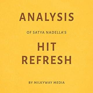 Analysis of Satya Nadella's Hit Refresh audiobook cover art