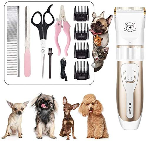 SSeir Dog Clippers, Cordless Dog Grooming Clippers Low Noise,Quiet Rechargeable Pet Hair Trimmer,Professional Dog Grooming Kit with Scissors Combs, Best Shaver for Dogs Cats Pets