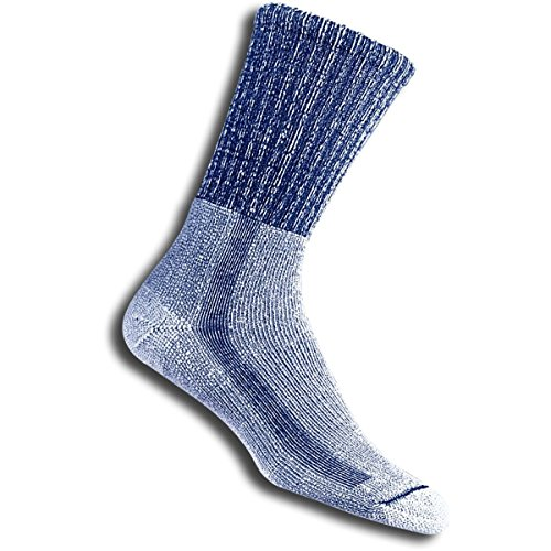 Thorlo, Moderate Cushion Light Hiking, Chaussettes Trekking Homme, Bleu, EU 38-42