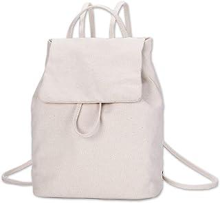 Simple Mini Backpack for Women,Canvas Cute Backpacks Purse for Teen Girls,Fashion Bookbags