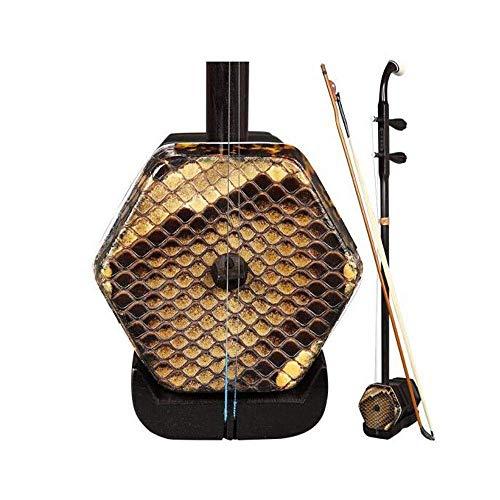 Erhu Musikinstrument, hört Pine Erhu auf dem Mond Nacht, Spielen Ebony Ebony In Exam, East African Ebony Material, Erwachsene Anfänger Üben Erhu, ethnische Instrument (Farbe: Schwarz) HUERDAIIT