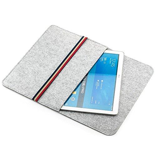 Saxonia Custodia Protettiva per 12 - 13,3' Pollici Tablet Laptop Cover Case Realizzata in Resistente Feltro ad es con Apple iPad Pro 12.9, MacBook Air Pro Retina, Surface Pro 4 3 e più, Grigio