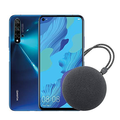 HUAWEI Nova 5T Smartphone e Speaker Bluetooth, 6 GB RAM e 128 GB ROM, Fotocamera Principale da 48 MP, Processore Kirin 980 con Intelligenza Artificiale, Blu [Italia]