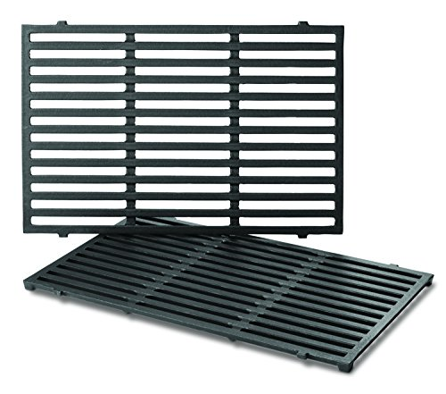 Weber Series Gas Grills 7638 Porcelain-Enameled Cast Iron Cooking Grates for Spirit 300, (17.5 x 0.5 x 11.9 inches), Pack of 2