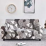 WXQY Fundas con Estampado Floral Funda de sofá elástica elástica Funda de sofá con protección para Mascotas Funda de sofá con Esquina en Forma de L Funda de sofá con Todo Incluido A23 1 Plaza