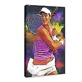 Poster de joueur de tennis Ana Ivanovic 03 sur toile pour décoration murale de salon, chambre à coucher 40 x 60 cm