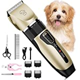 Dog Clippers for Grooming, iThrough Dog Grooming Clippers Kit - Pet Clippers