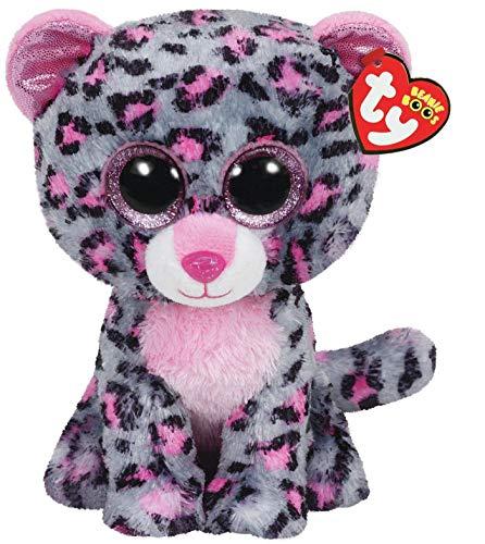 TY- Leopardo Peluche, juguete, Color gris, 23 cm (United Labels Ibérica 37038TY) , color/modelo surtido