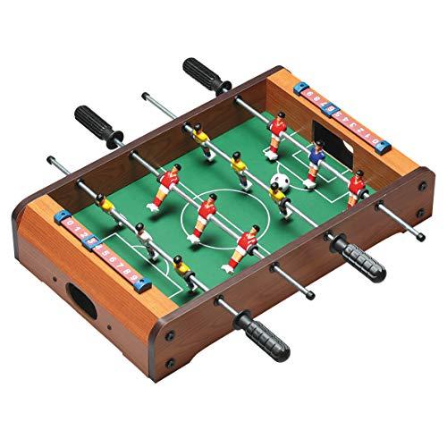 elasto Tischkicker Mini Soccer Mini Kicker Tischfußball mit 12 Spieler inkl. 2 Bällen 50 x 31 x 10cm