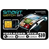 Smart Watch SIM Card for 4G LTE GSM Smartwatches and Wearables - 30 Day Service - USA Canada & Mexico Roaming