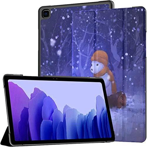 Funda para Samsung Galaxy Tab A7 Tablet de 10,4 Pulgadas 2020 (sm-t500 / t505 / t507), Arte Digital Pintura Oso Polar Pesca Soporte de ángulo múltiple Cubierta con activación/suspensión automática