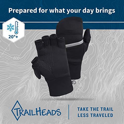 TrailHeads Men's Power Stretch Convertible Mittens - medium/large