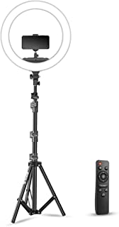 DIGITEK® (DRL-18RC) LED Ring Light with Stand DRL-18RC with No Shadow Apertures | Ideal for Make-up Artists & Fashion Phot...
