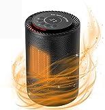 Sendowtek Calefactor Baño PTC Calefacción de Cerámica Mini Calefactor con 3 Ajustes de...