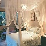 Khodislav - Mosquito Net - Ceiling Hammock Tent Mosquito Net Four Sides Opening Large Practical Mesh Floor Curtain Decoration - Girls Tent Rain Lifesystem Door Impregnated Gray Suit Balcony Patio Kid