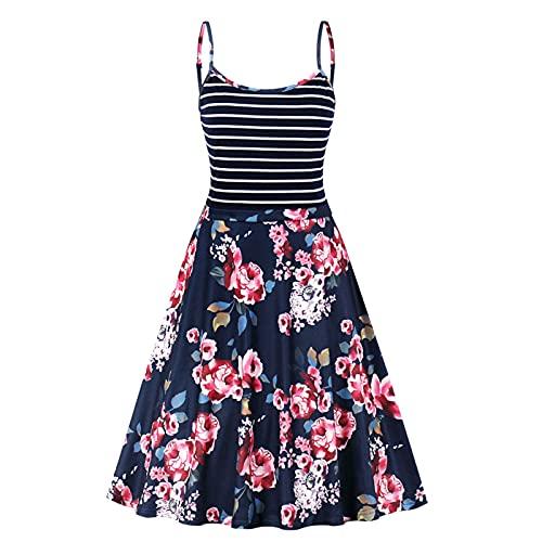 AMhomely Vestidos de maternidad para mujer en Reino Unido, ropa de maternidad embarazada, a rayas, tirantes florales para verano, talla grande, vestido de fiesta bodycon