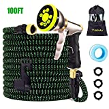 YOJULY Garden Hose-100ft Expandable Hose, Leakproof Lightweight Garden Water Hose-No Kink Tangle-Free Pocket Water Hose, High Pressure Water Spray Nozzle (100FT)