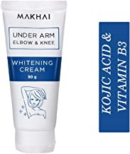 Makhai Underarm Whitening Cream for underarms, elbows, knee with Kojic Acid & VITAMIN B3-50g