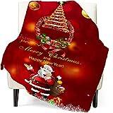 shenchia Manta de forro polar de Navidad para sofás, manta para silla de cama individual, acogedora manta de franela con impresión de Navidad suave (200 x 150 cm, patrón 1)