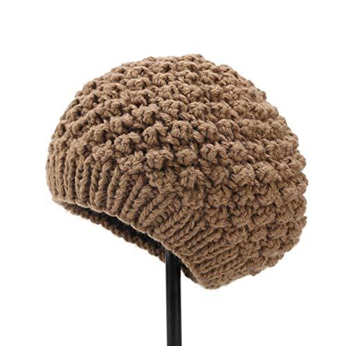 Kentop Invierno Crochet Sombrero Boina de piña