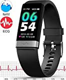 MorePro E-CG Monitor Watch,Waterproof Fitness Tracker with Heart Rate Blood Pressure Monitor, Activity Tracker with Enhanced Sleep Monitor for Android iOS, Pedometer Calorie Step Counter for Women Men