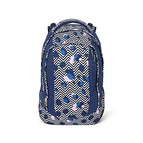 satch Sleek Stoney Mony, ergonomischer Schulrucksack, 24 Liter, extra schlank, Schwarz