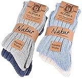 BRUBAKER Thick Alpaca Winter Socks for Men or Women 100% Alpaca - 4 Pairs