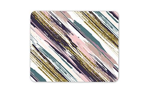 Mousepad muismat muismatten abstracte balayage van kleuren goud strepen muismat pad - girly haar gift
