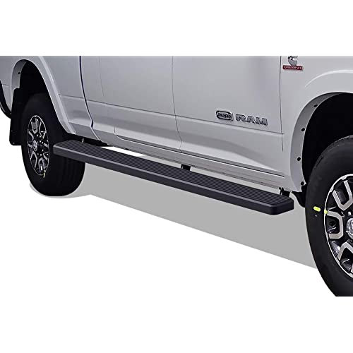 APS iBoard (Black Powder Coated 5 inches Wheel to Wheel) Running Boards Nerf Bars Steps Compatible with 2009-2018 Ram 1500 Crew Cab Pickup 6.5ft Bed & 2010-2020 Ram 2500 3500 (09-12 Drilling Required)