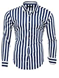 Kayhan Herren Hemd, Striped MX MZ Navy L