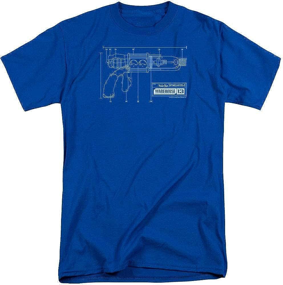 Warehouse 13 Tesla Gun Adult Tall Fit T-Shirt