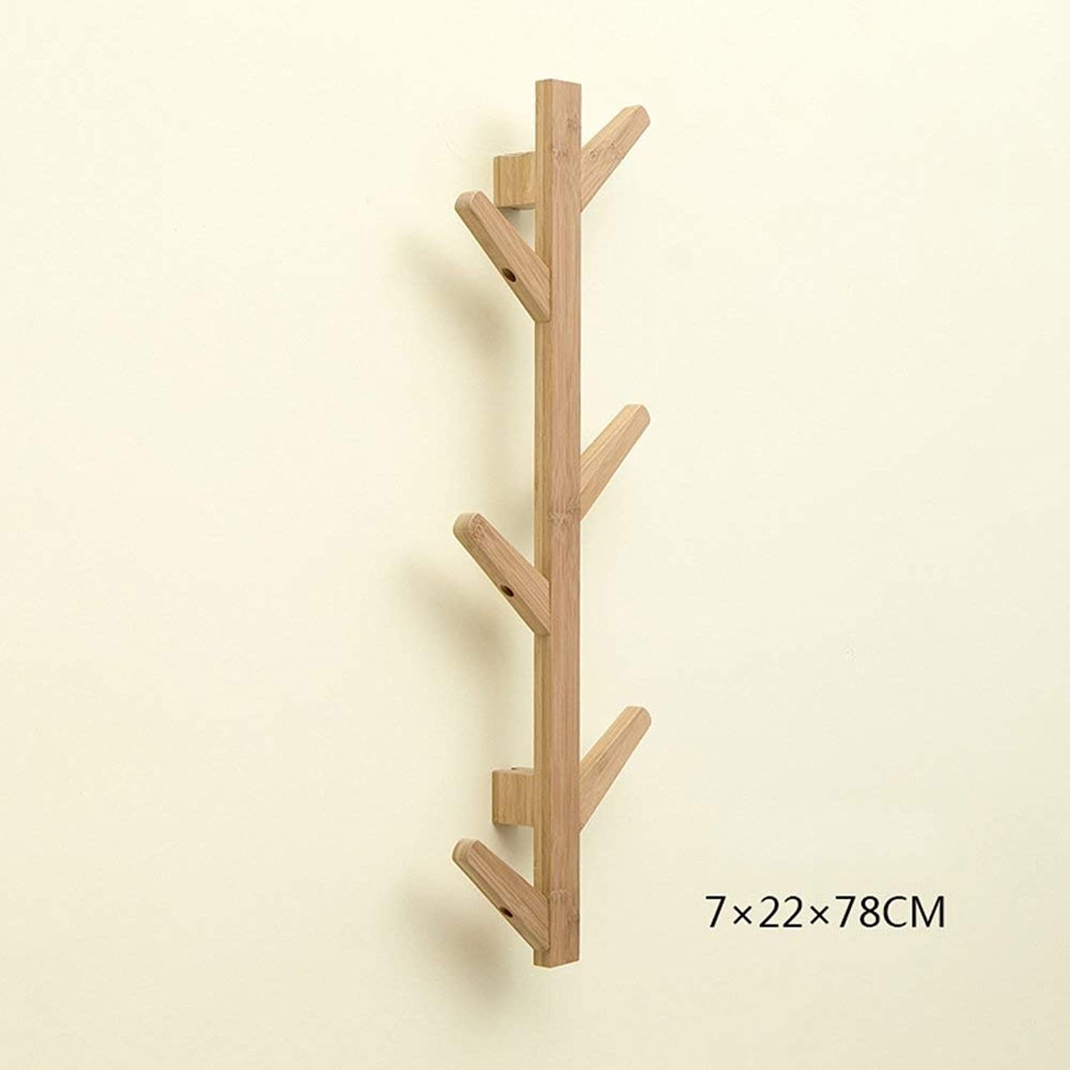 DYR Wall Hanger in Solid Wood Wall Hangers Hangers for Home Decorative Holders Decorative Frame (color  Wood color, Dimensions  78  22cm)