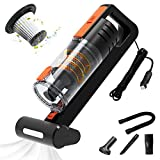 AUTOWOEL Best Car Vacuum Cleaner, Handheld Portable Vacuum Cleaner for Car, 7500PA High Power Handheld Vacuum Cleaner, Double Motor Cyclone Suction Vacuum with Wet or Dry, 16.4 Ft Corded