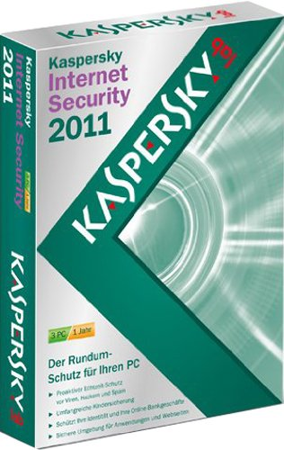 Kaspersky internet security 2011 (3 postes, 1 an) [import allemand]