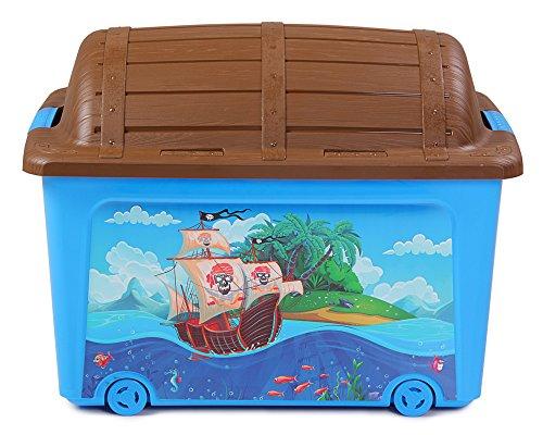 Ondis24 Spielzeugaufbewahrungsbox Spielzeugkiste Aufbewahrungsbox Spielzeugbox Spielzeugtruhe(Pirat)